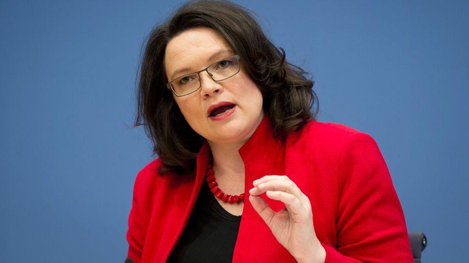 "Bundesarbeitsministerin Andrea Nahles (SPD): Deutschland kann Mindestlohn ""gut verkraften"""