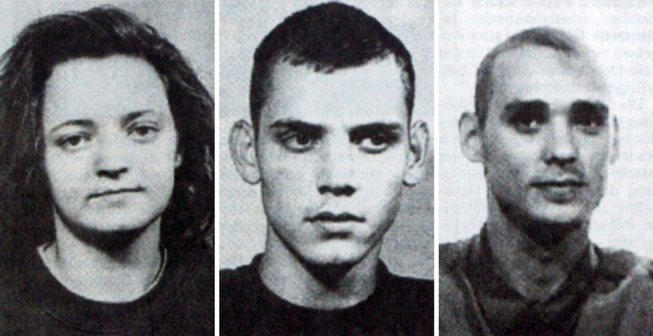 Die Originalversion: NSU-Terroristen Zschäpe, Böhnhardt und Mundlos (von links)