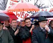 Unter den Demonstranten war auch der frühere österreichische Kanzler Klima
