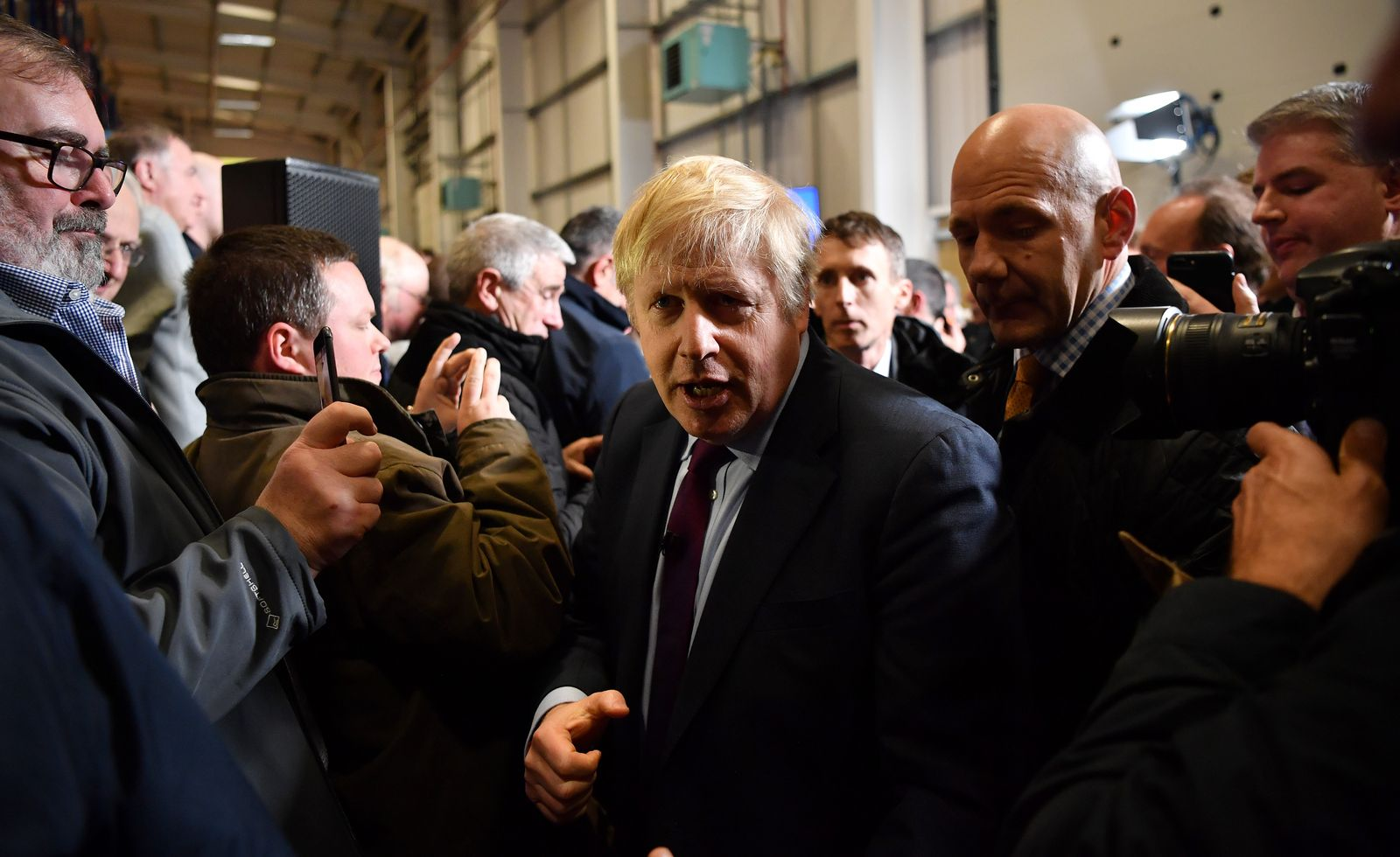 Boris Johnson Visits North East In Campaign's Final Days