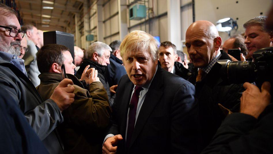 Premier Johnson im Wahlkampf