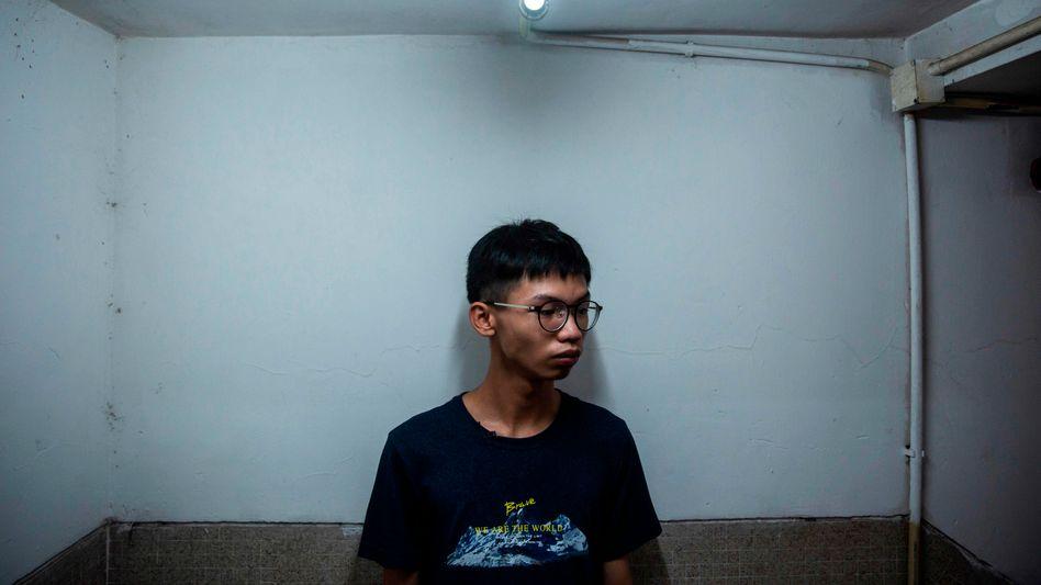 Der Aktivist Tony Chung in Hongkong