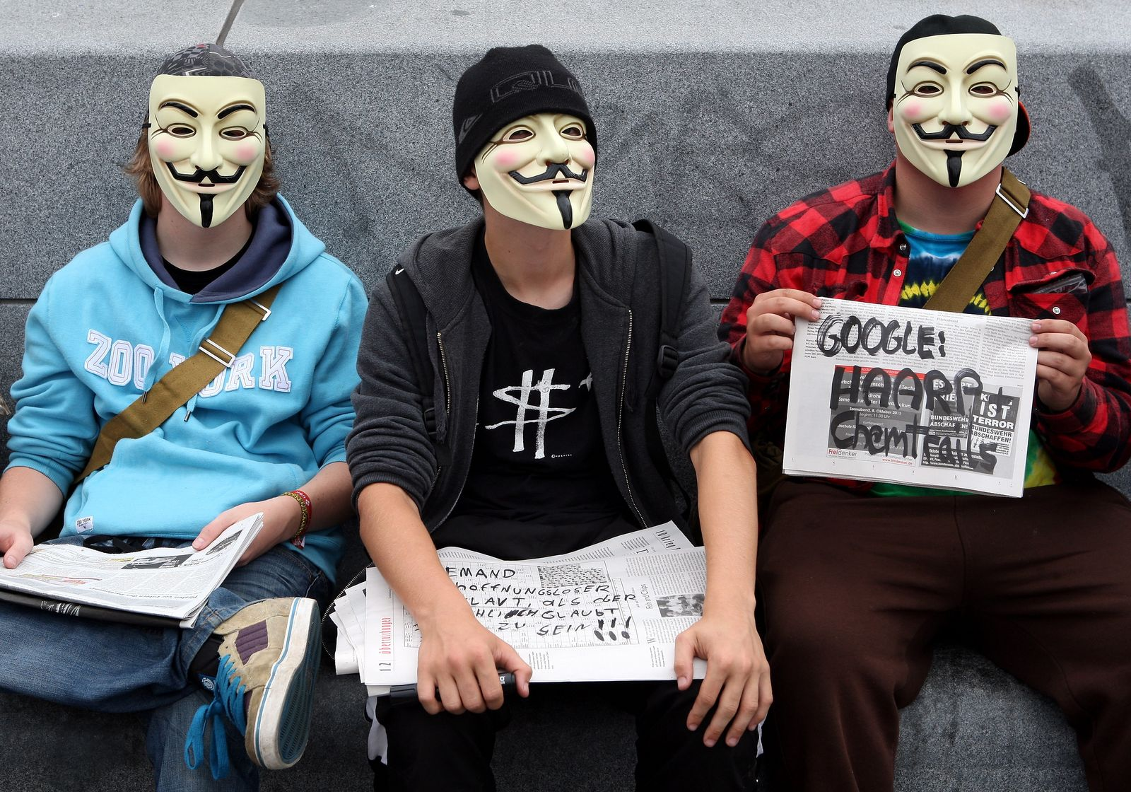 NICHT VERWENDEN Anonymous / Demonstration / Datenüberwachung