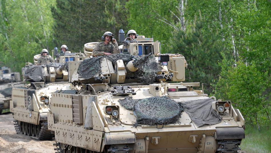 """US-Soldaten beim Manöver """"Defender-Europe 20 Plus"""" im Nordwesten Polens"""