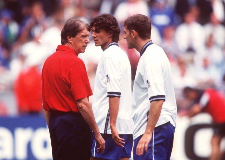 Trainer Cesare, Spieler Paolo in der italienischen Nationalelf