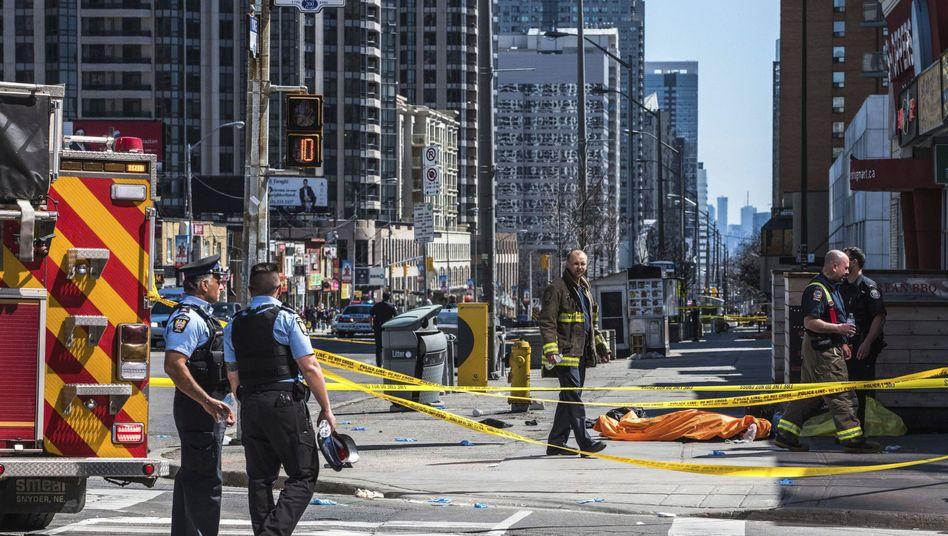 Tatort in Toronto nach der Amokfahrt