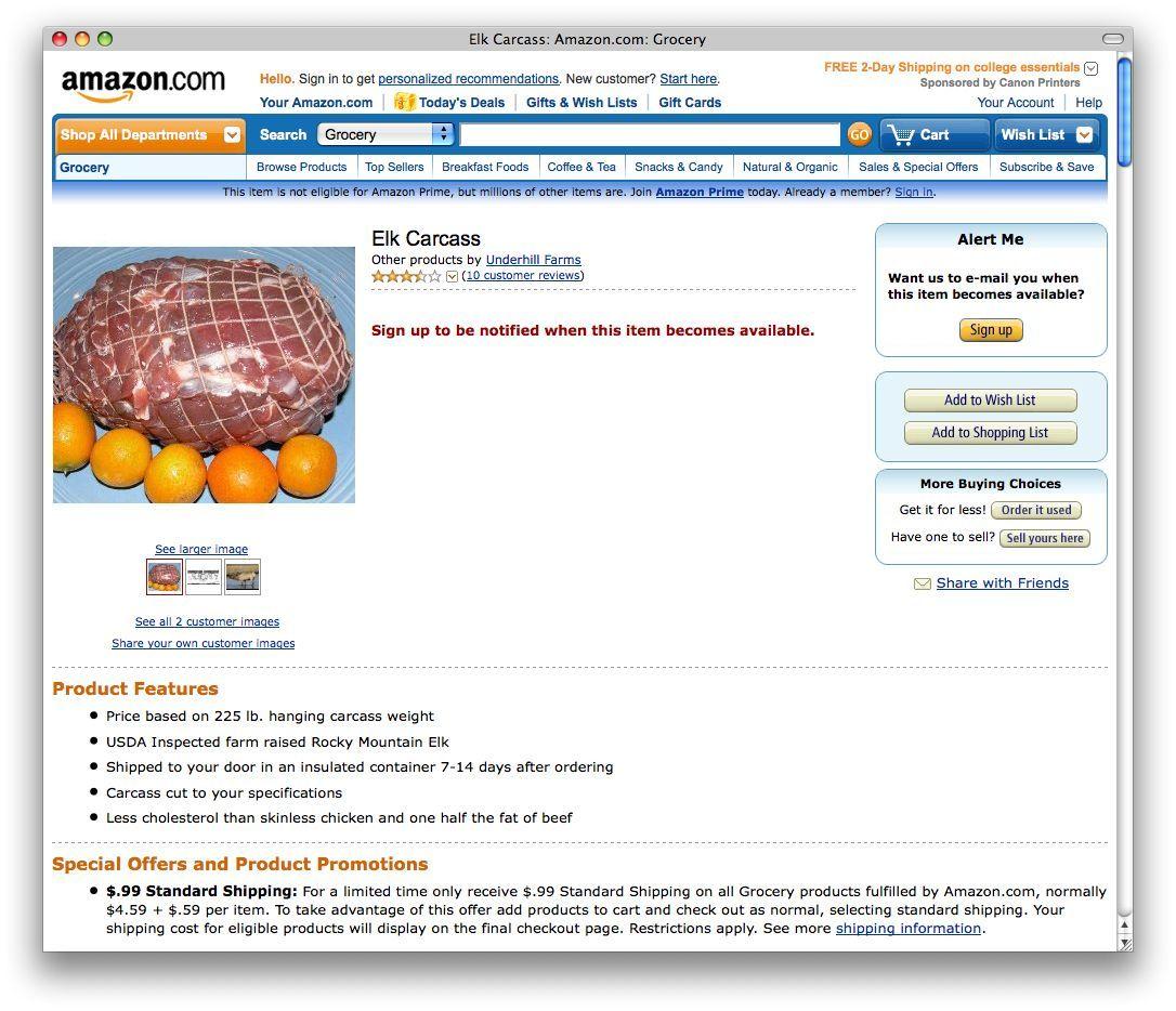 NUR ALS ZITAT Amazon #1 / Elchbraten / Screenshot