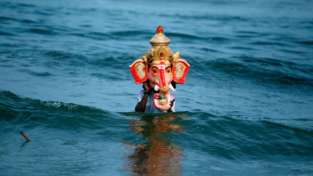 Ganesha-Fest: Gott aus Gips