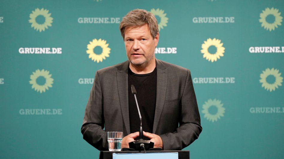 Der Bundesvorsitzende der Grünen, Robert Habeck