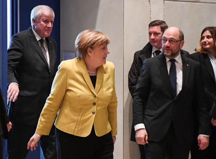 Angela Merkel, Martin Schulz, Horst Seehofer