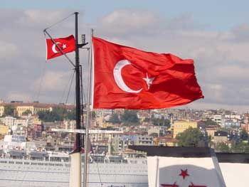 Ein Land auf dem rechten Weg? Türkische Flagge