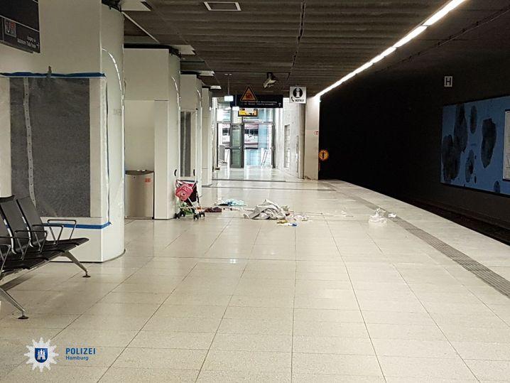 Tatort am Bahnhof Jungfernstieg