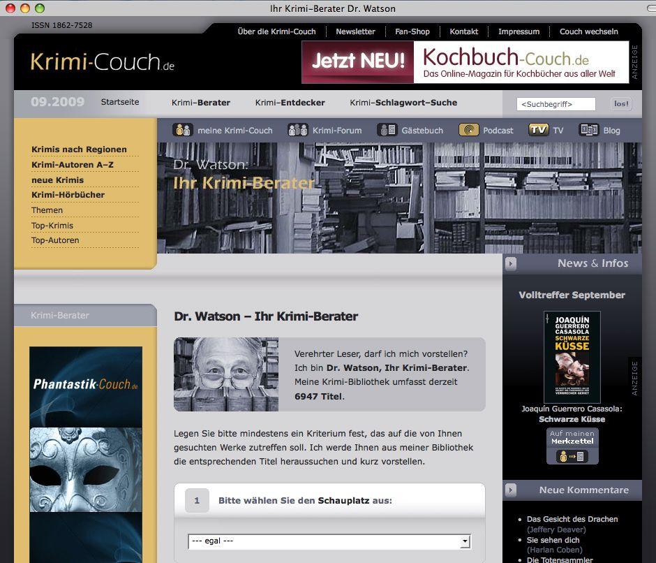 NUR ALS ZITAT Screenshot / Krimi Berater / Dr. Watson