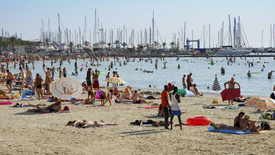 Strand von Palma auf Mallorca: