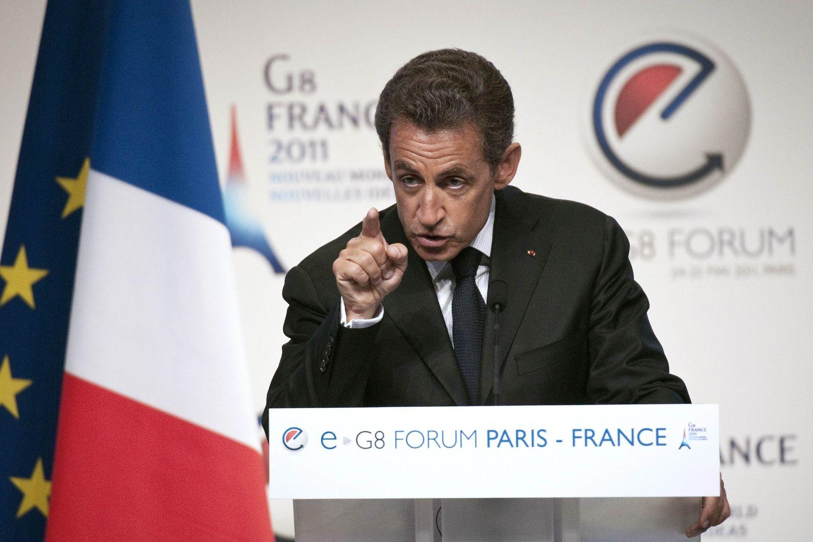 Sarkozy / eG8 Paris