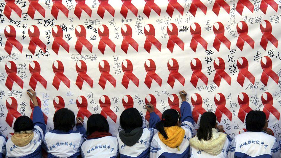 """Aids-Prävention in China: HIV-Infektion """"zu beängstigend für uns"""""""