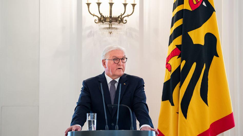 """Bundespräsident Frank-Walter Steinmeier: """"Die allermeisten befürworten das Grundgesetz, auch wenn sie es gar nicht sehr genau kennen."""""""