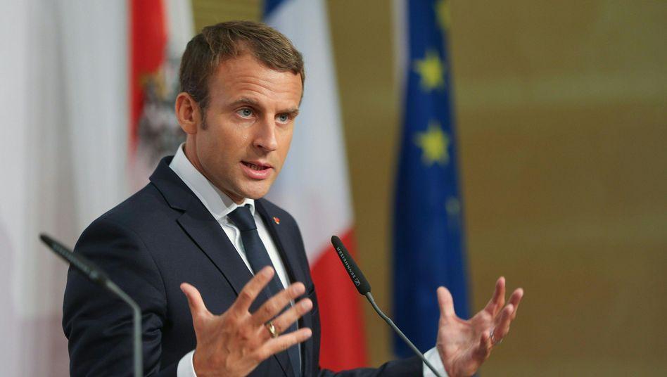 Frankreichs Präsident Emmanuel Macron in Salzburg