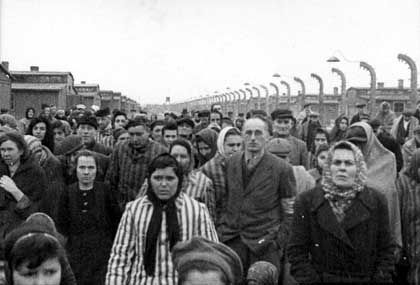 About 7,000 prisoners were found alive at the Auschwitz death camp when it was freed on Jan. 27, 1945. About 1.5 million others died at the camp.