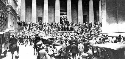 Börsencrash in New York im Herbst 1929: Entwarnungen kamen zu früh