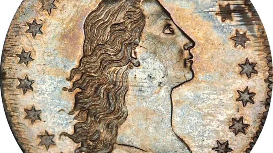 """""""Flowing Hair Dollar"""" von 1794 (Archiv): Ein ähnliches Exemplar wurde nun versteigert"""