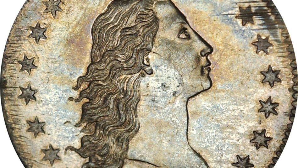 Flowing Hair Silver Dollar: Rekordmünze aus dem Jahr 1794 versteigert