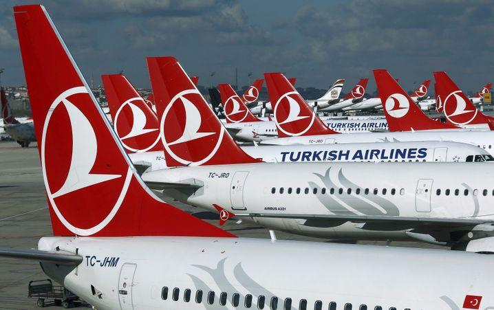 Maschinen von Turkish Airlines