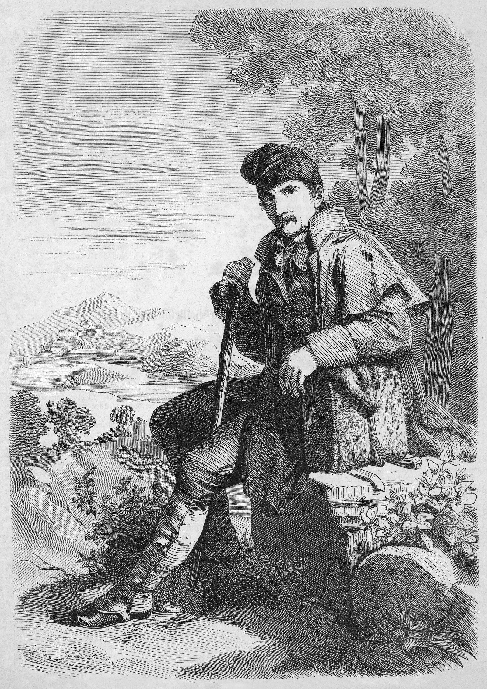 """Illustration zur Reisebeschreibung """"Spaziergang nach Syrakus"""" (1803) von Johann Gottfried Seume"""