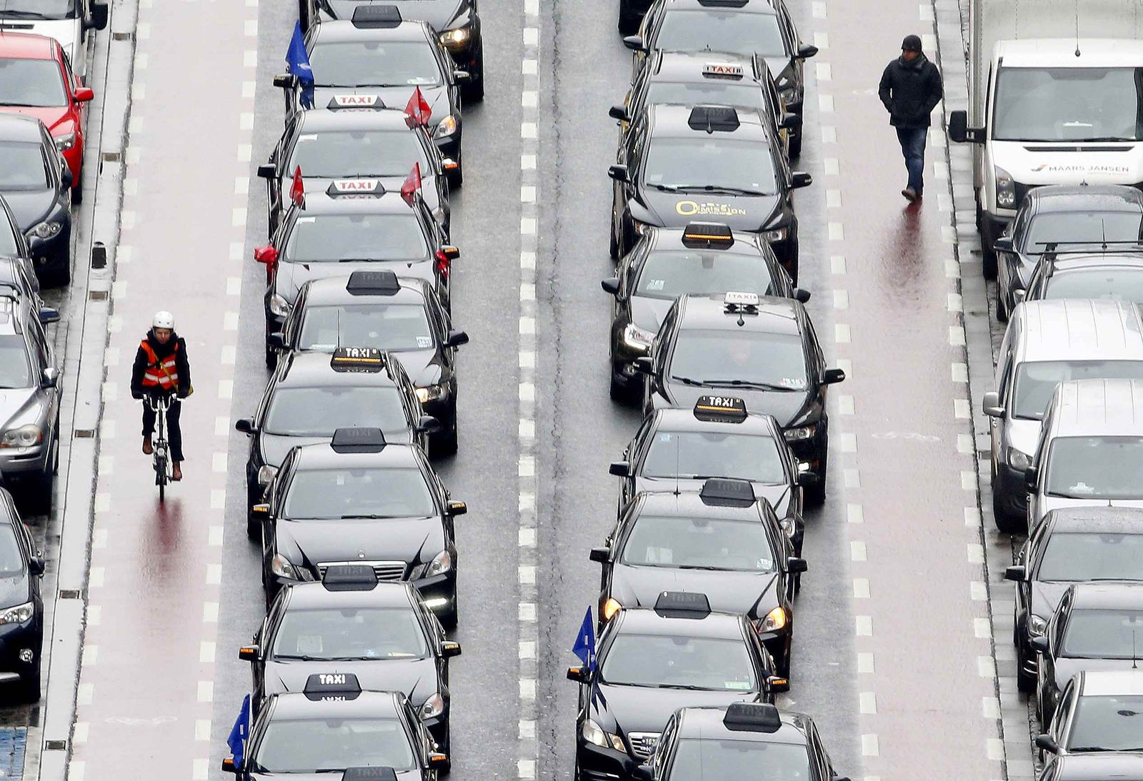 Uber Protest in Belgien