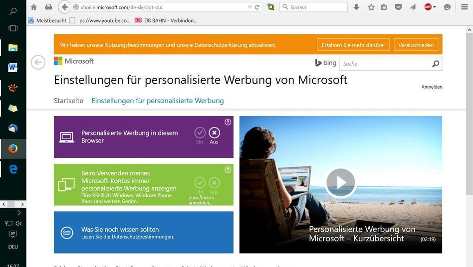 Webbrowser in Windows 10: Microsofts Datensammelei kann gebremst werden