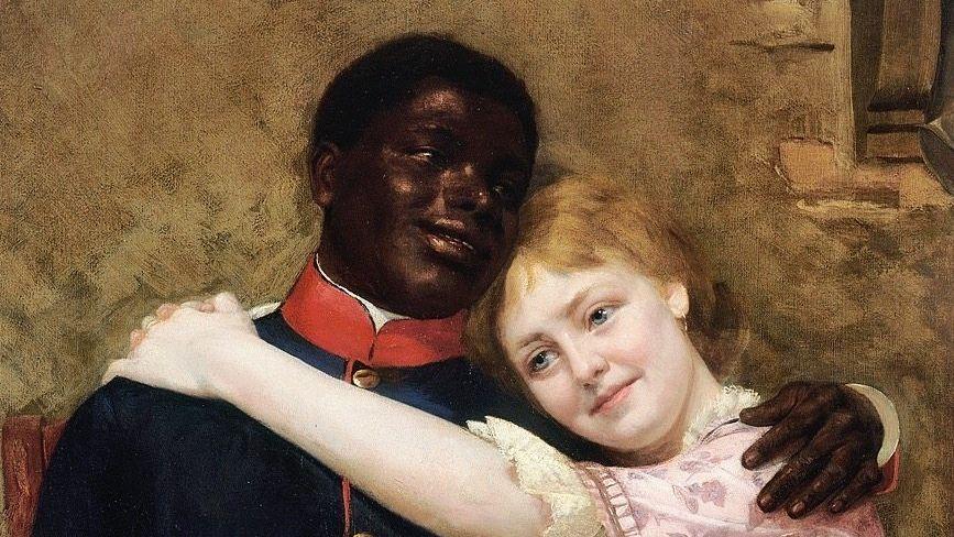 Gustav Sabac el Cher, geboren 1868 in Berlin, war Militärmusiker in Preußen. 1890 malte Emil Doerstling ihn mit Freundin
