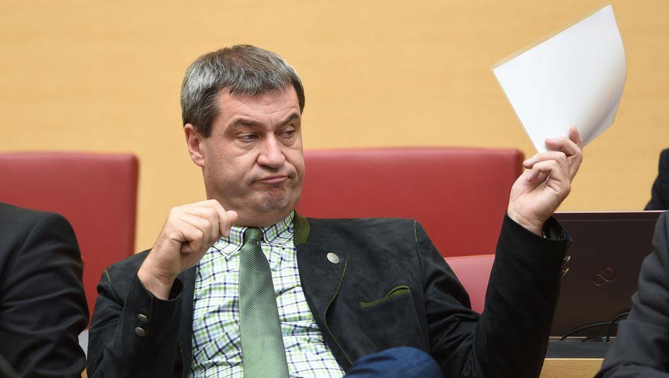 """CSU-Politiker Markus Söder: """"Wir fordern eine massive Begrenzung der Zuwanderung"""""""