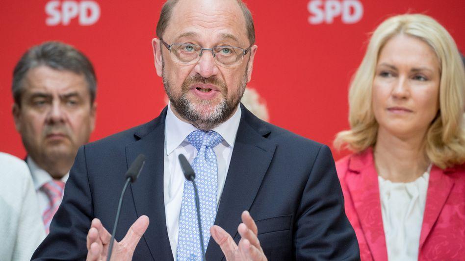 SPD-Vorsitzender Schulz, Vizechefin Schwesig