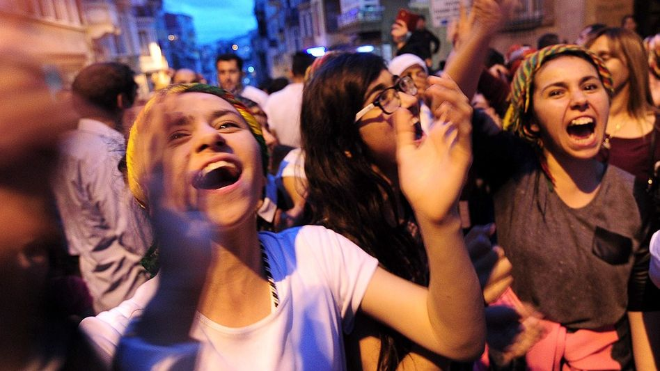 People across Turkey celebrated last Sunday's election results.