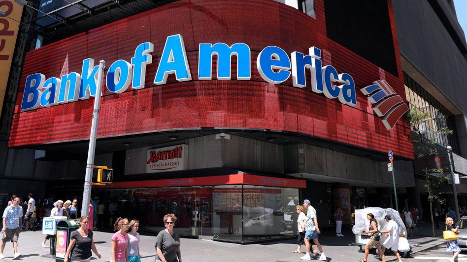 Filiale der Bank of America am Times Square: Kontinuierliche Erholung