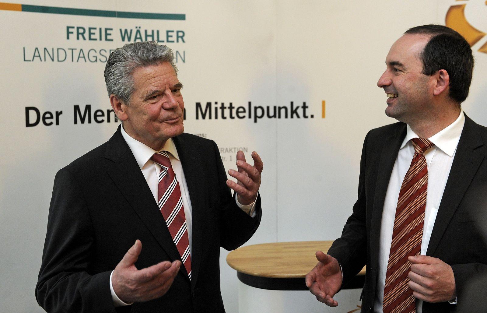 NICHT VERWENDEN Gauck und Aiwanger