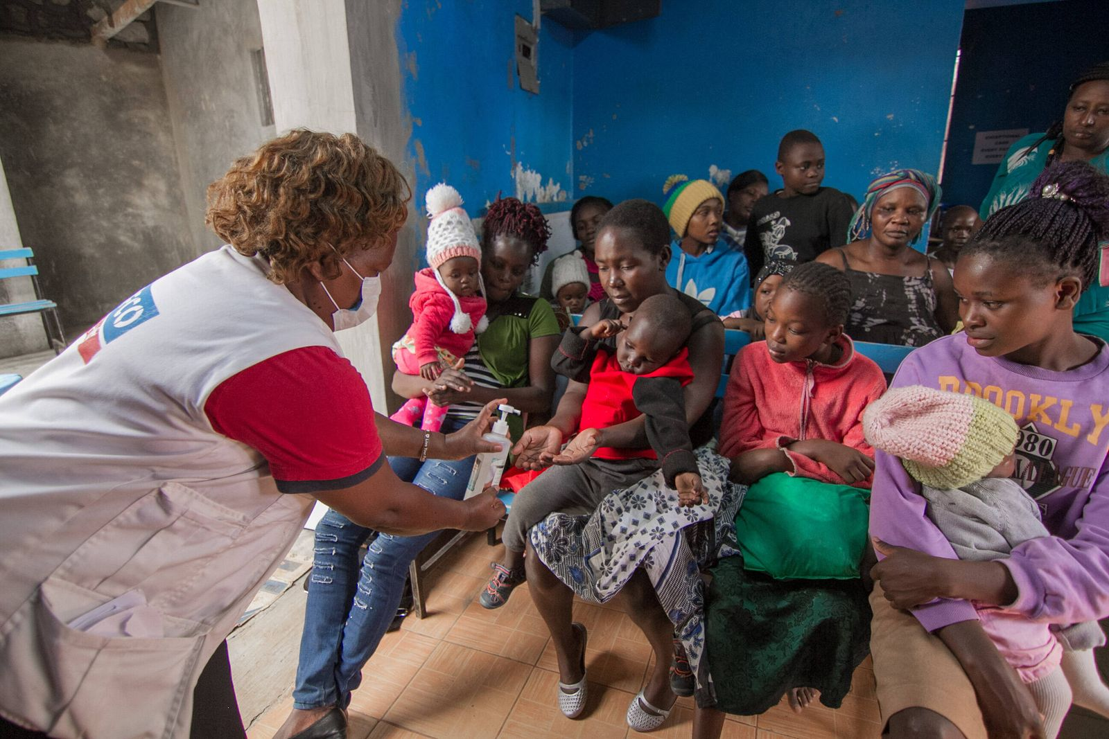 March 20, 2020, Nairobi, Kenya, Africa: A local health officer, Dr Ruth Ndungo performs a public health talk to patients