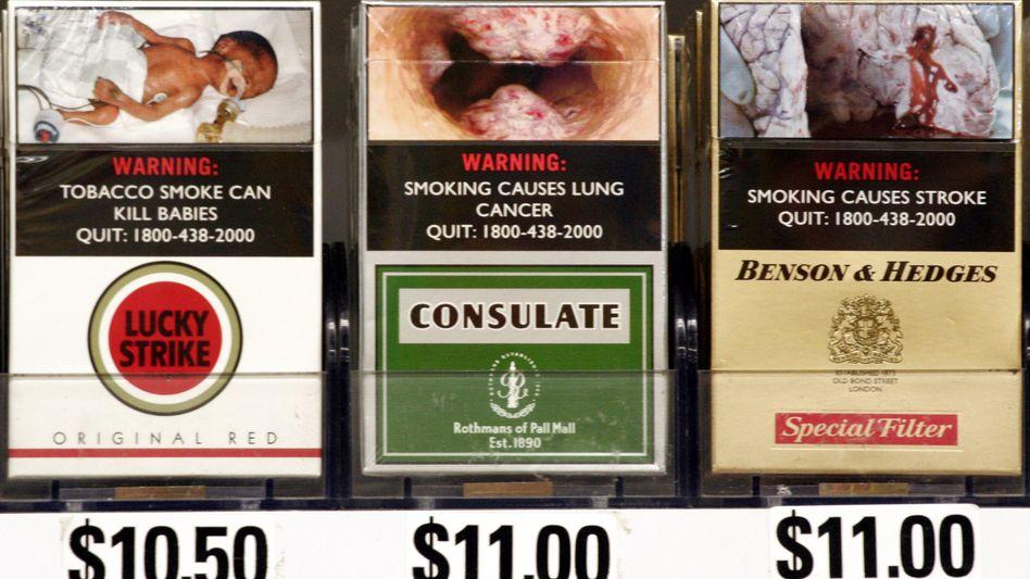 Abstoßende Fotos auf Zigarettenschachteln in Singapur: EU-weite Einführung