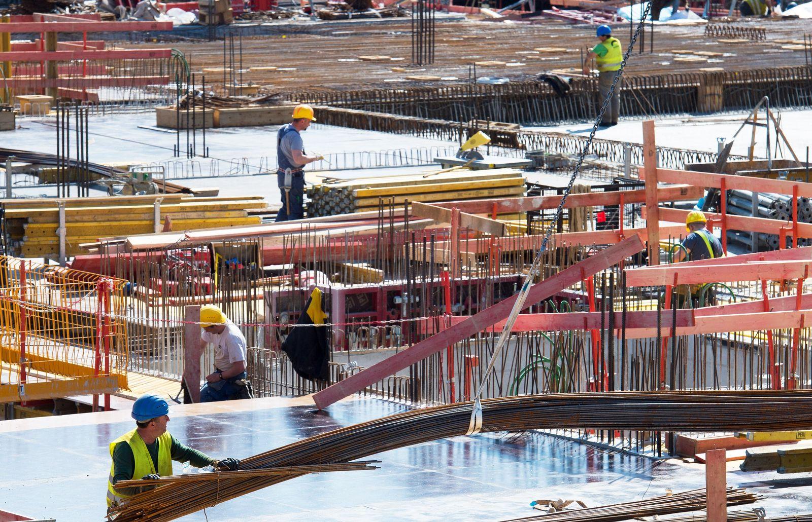Deutschland / Konjunktur Baustelle / Bauarbeiter