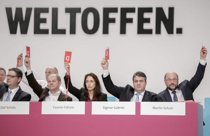 SPD-Spitzenpolitiker beim vergangenen Bundesparteitag