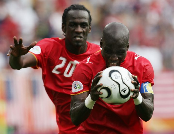 Otto Addo (l.) und Stephen Appiah schafften es bei der WM 2006 mit Ghana bis ins Achtelfinale