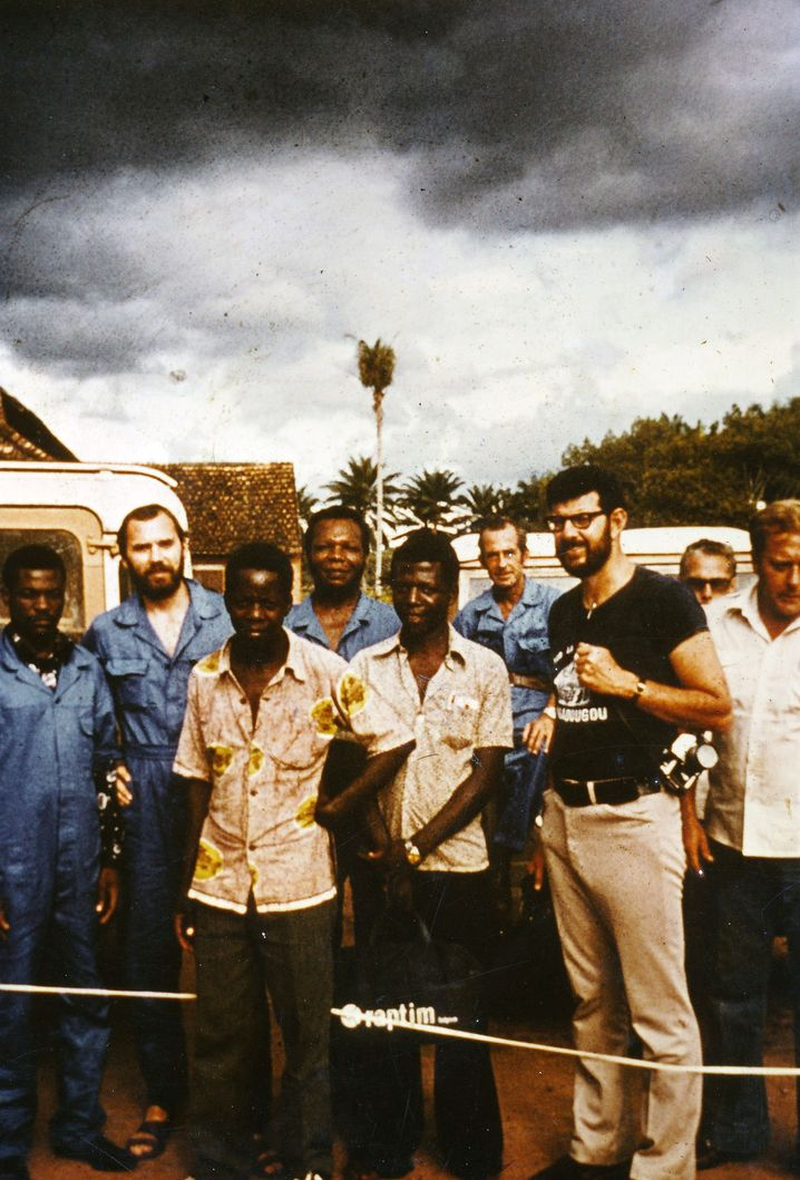 Peter Piot, second from left, on site in Yambuku during the first Ebola outbreak in 1976.