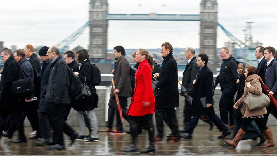 Stoßzeit in Londons Finanzviertel