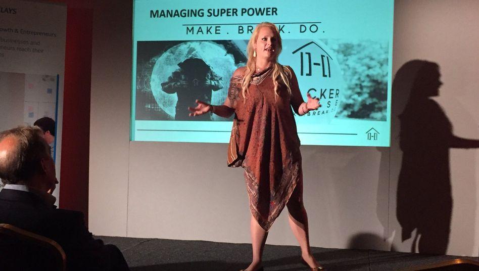 US-Geschäftsfrau Jennifer Arcuri bei einer Präsentation (Archivfoto)|