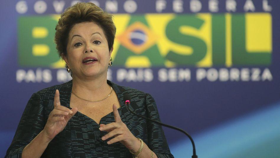 "Brasiliens Präsidentin Dilma Rousseff: ""Große Besorgnis"""
