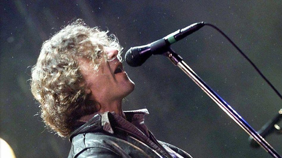 Eddie Vedder, Frontmann von Pearl Jam, bei dem Auftritt am 30. Juni 2000 auf dem Roskilde-Festival