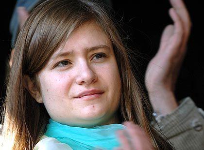 Applaudierte den Nazi-Gegnern: Schauspielerin Jentsch (bei Demo in München)