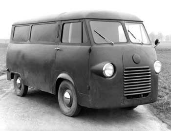 Prototyp des Ford Transit 1952: Abgestimmt auf die Bedürfnisse der Wirtschaftswunderzeit