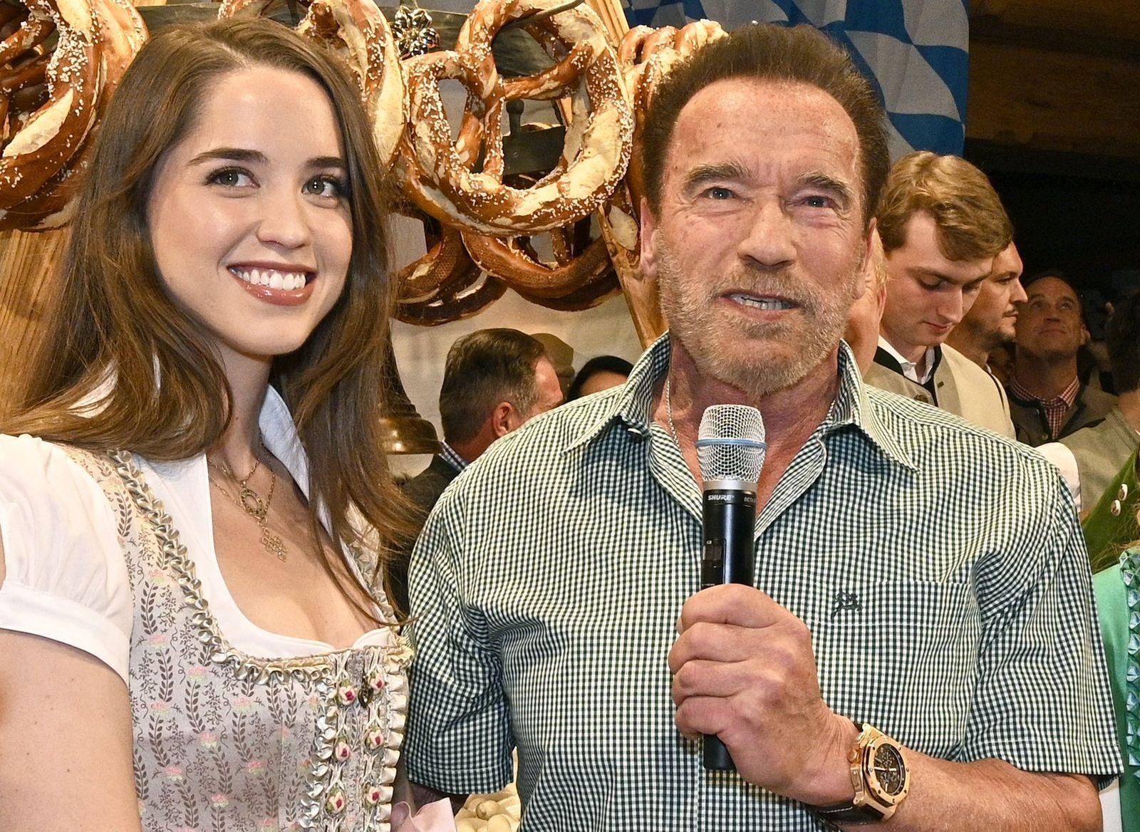 Schauspieler Arnold Schwarzenegger und Tochter Christina