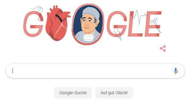 Google-Doodle zum 96. Geburtstag von René Favaloro